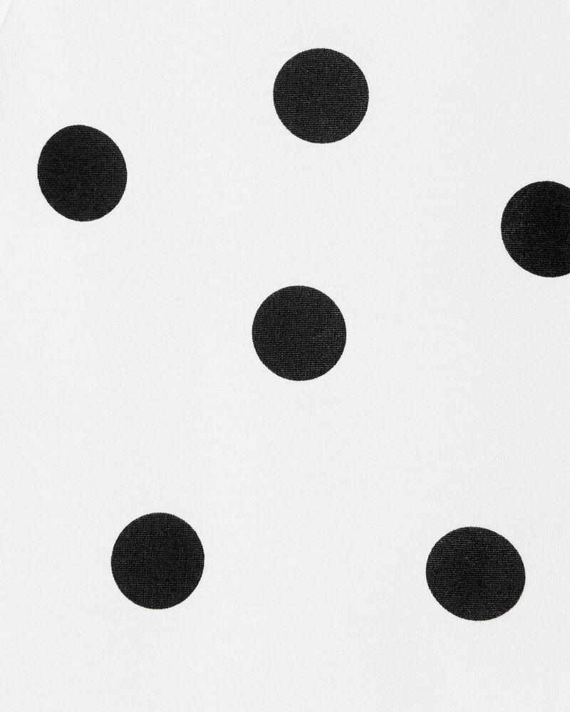 2-Piece Polka Dot Tee & Corduroy Overall Set, , hi-res