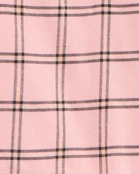 Ensemble 2 pièces haut en flanelle à motif écossais et legging