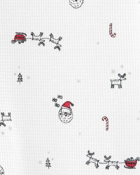 Christmas Print Snap-Up Thermal Sleep & Play