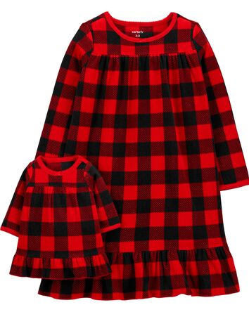 Buffalo Check Matching Nightgown &...