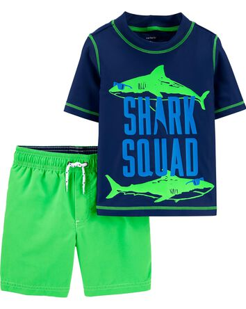 2-Piece Shark Rashguard Set
