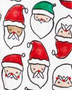 Pyjama 1 pièce en molleton à pieds à Père Noël, , hi-res