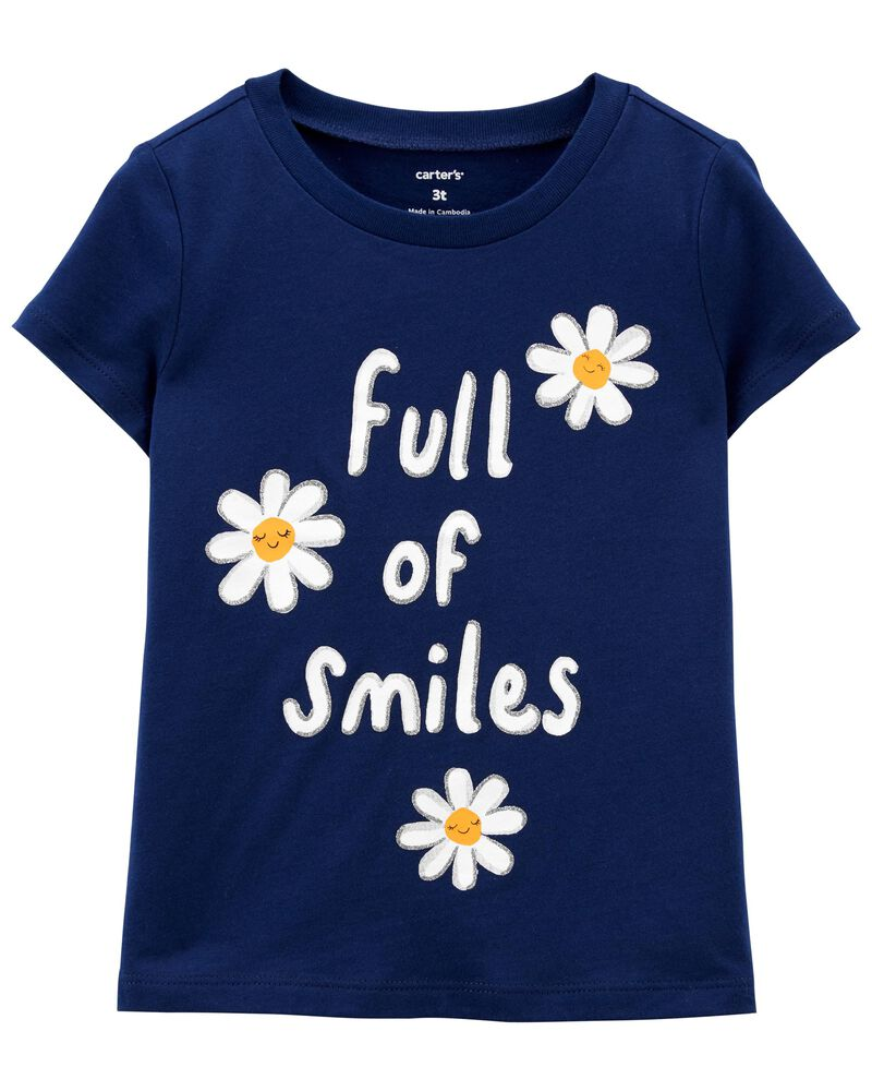 T-shirt en jersey à marguerite Full Of Smiles , , hi-res