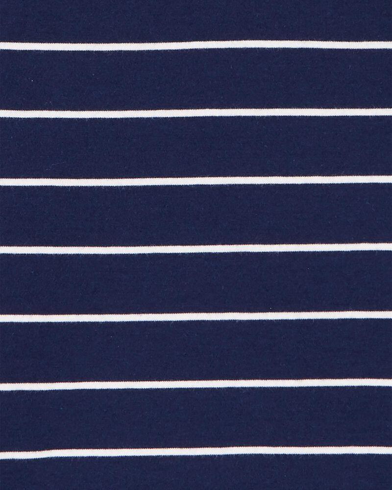 2-Piece Striped Jersey Henley & Poplin Short Set, , hi-res