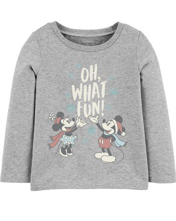 Mickey And Minnie Mouse Holiday Tee