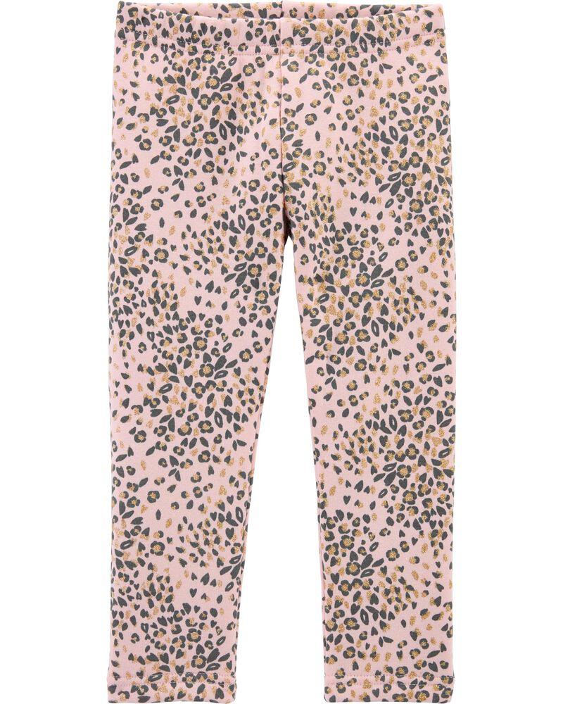 Legging doublé de molleton douillet à léopard, , hi-res