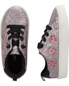 Glitter Heart Sneakers, , hi-res