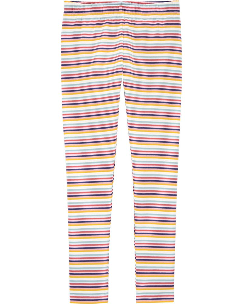 Striped Jersey Leggings, , hi-res