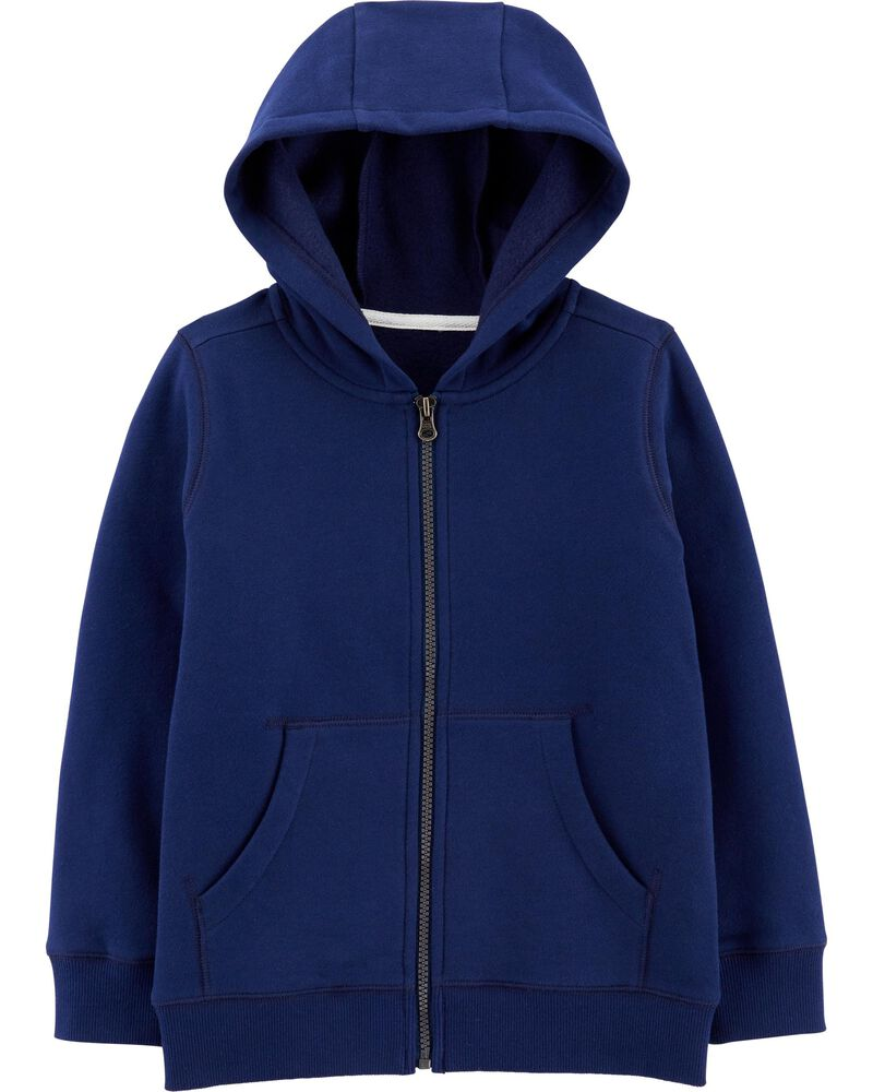 Zip-Up Fleece-Lined Hoodie, , hi-res