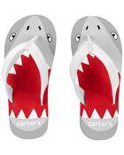 Sandales de plage à motif de requins, , hi-res