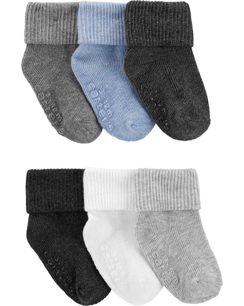 6-Pack Foldover Cuff Booties, , hi-res