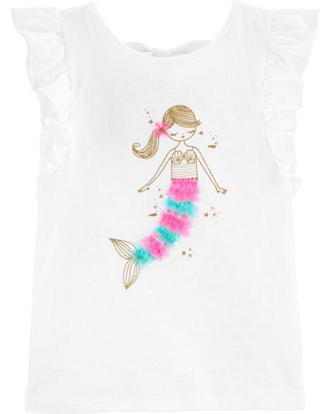Glitter Mermaid Slub Jersey Tee