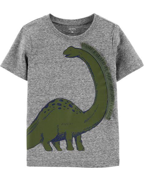 T-shirt en jersey chiné à dinosaure
