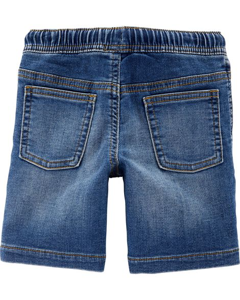 Pull-On Denim Shorts