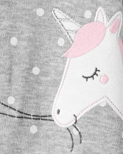Unicorn 2-Way Zip Cotton Sleep & Play