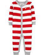 Pyjama isotherme à boutons-pression et pieds, , hi-res