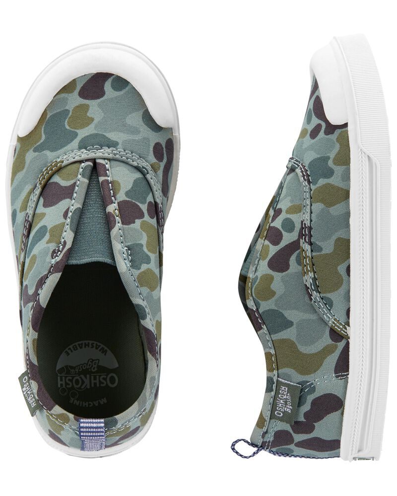 Chaussures à enfiler camouflage, , hi-res