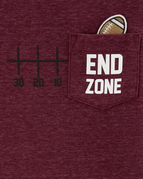 Interactive Football Snow Yarn Tee