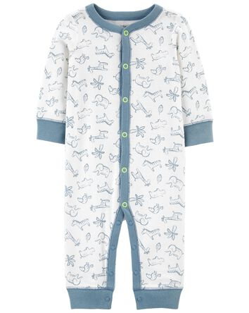 Zip-Up Cotton Footless Sleep & Play
