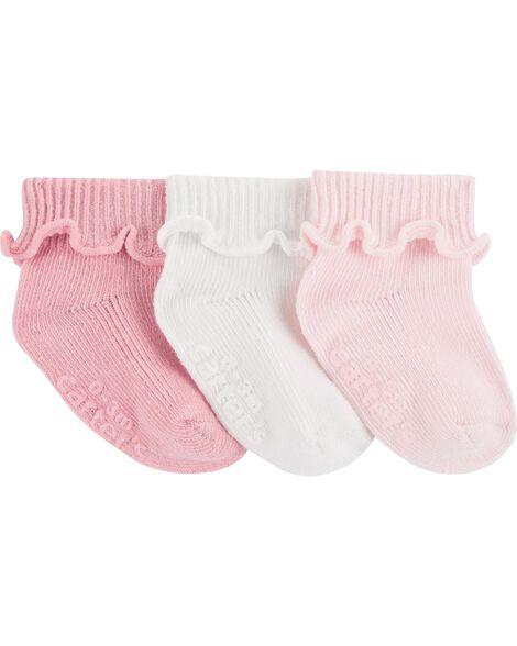 Emballage de 3 paires de chaussons à revers