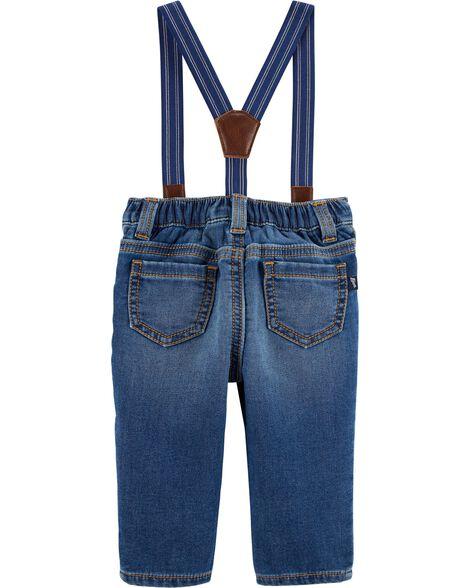 Suspender Jeans - Derby Wash
