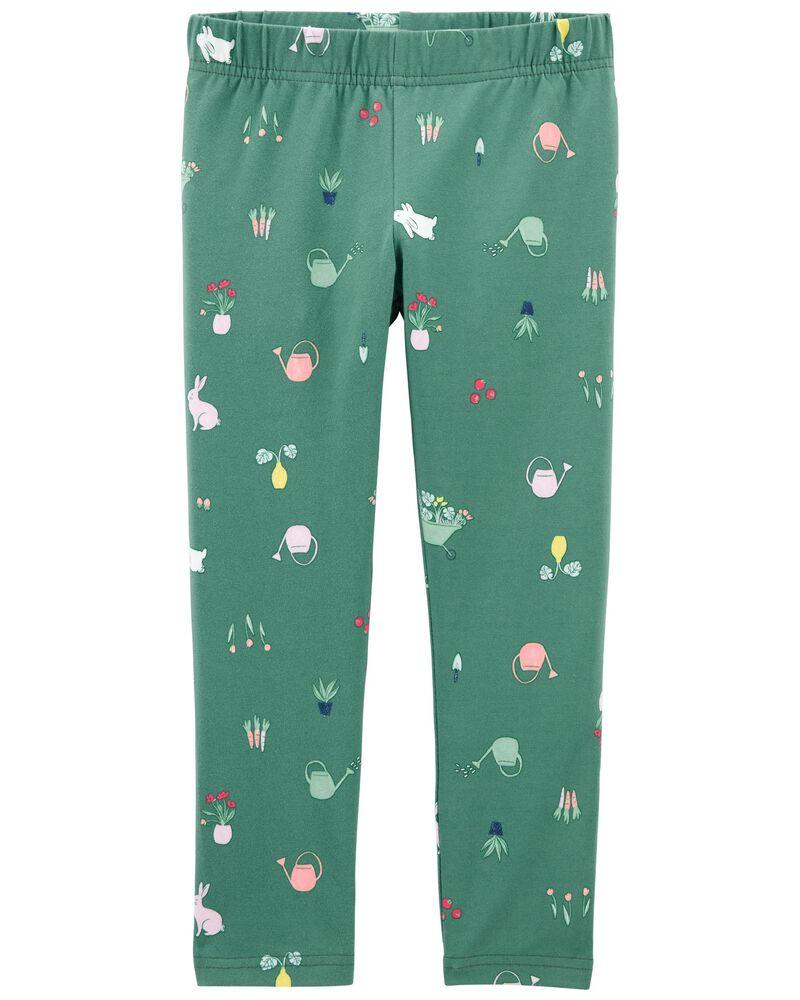 Floral Bunny Leggings, , hi-res
