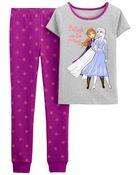 Pyjama 2 pièces en coton ajusté Reine Des Neiges, , hi-res