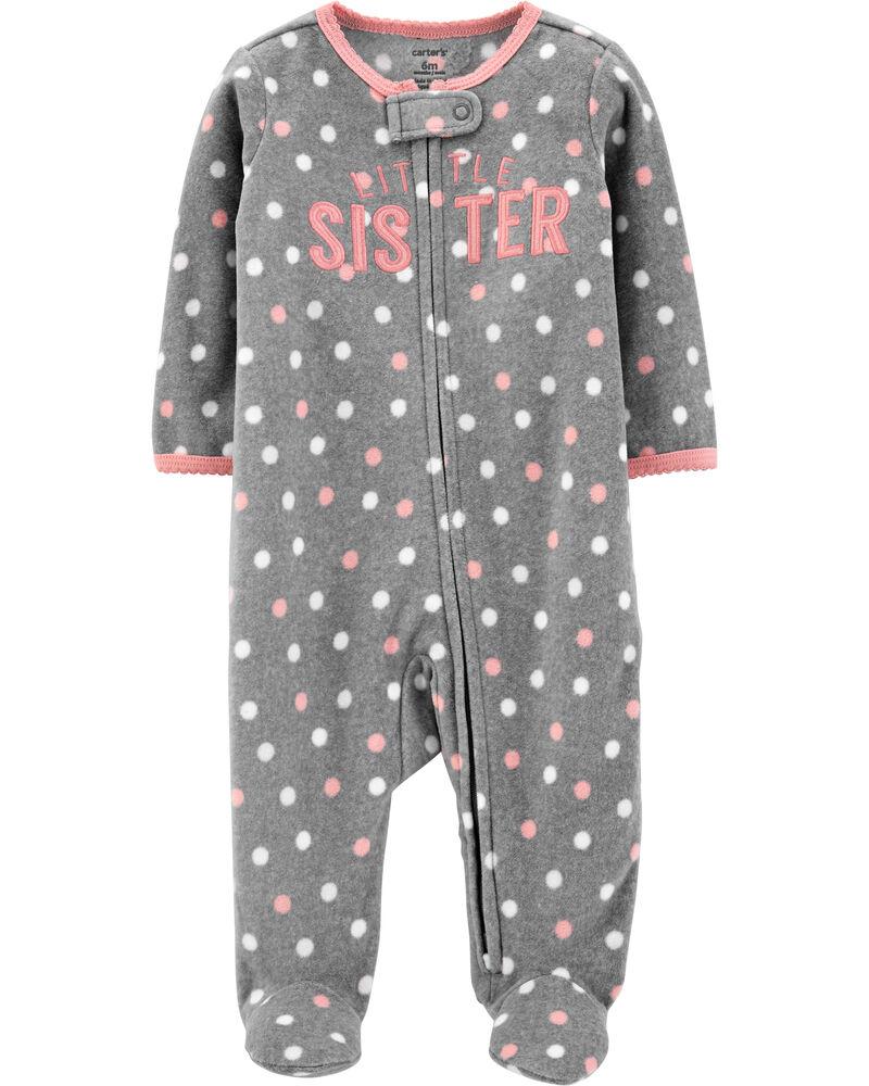 Sister Zip-Up Fleece Sleep & Play, , hi-res