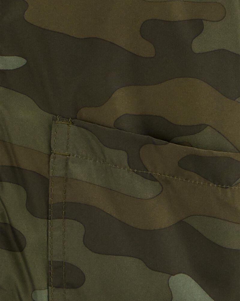Blouson d'épaisseur moyenne doublé de molleton à imprimé camouflage, , hi-res