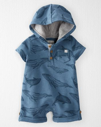 Organic Cotton Hooded Sunsuit
