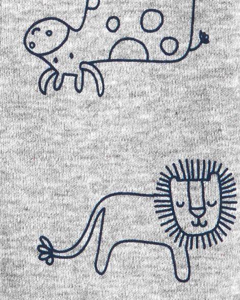 Animals Snap-Up Cotton Sleep & Play