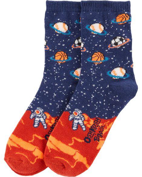 Emballage de 3 paires de chaussettes de sport mi-mollet qui brillent dans le noir