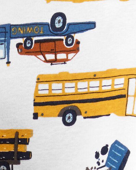 4-Piece Construction Truck Snug Fit Cotton PJs