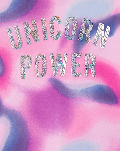 Unicorn Power Pullover Fleece Hoodie