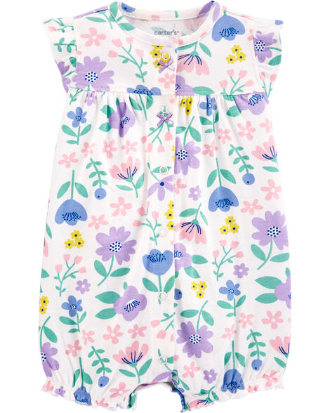 Floral Snap-Up Romper