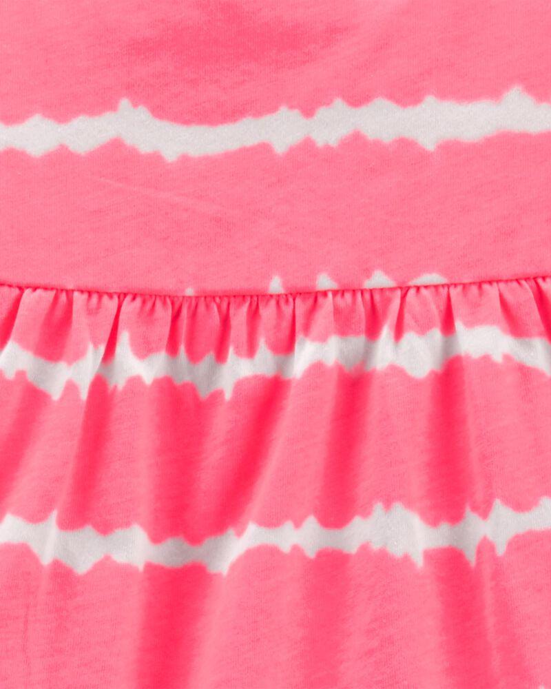 Ensemble 2 pièces débardeur teint sur nœuds et short extensible en tricot de denim, , hi-res