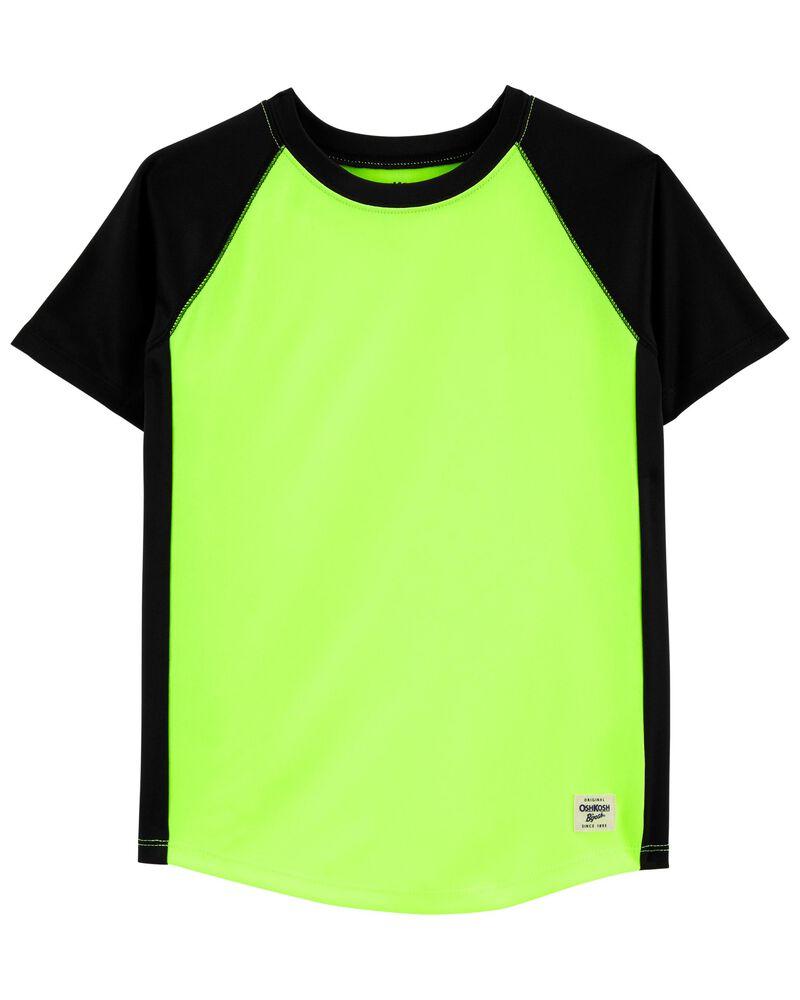 T-shirt de sport à manches raglan fluo, , hi-res