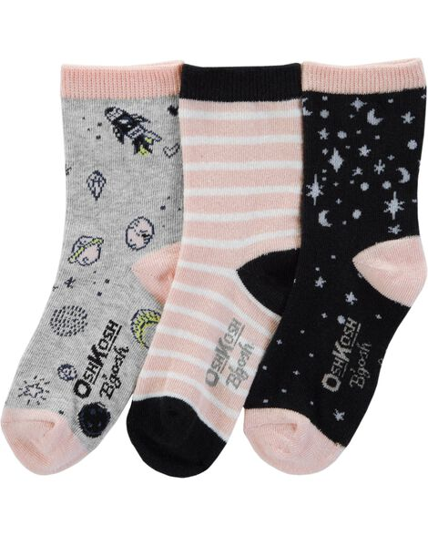 3-Pack Space Crew Socks