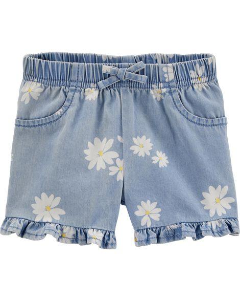 Daisy Pull-On Denim Shorts