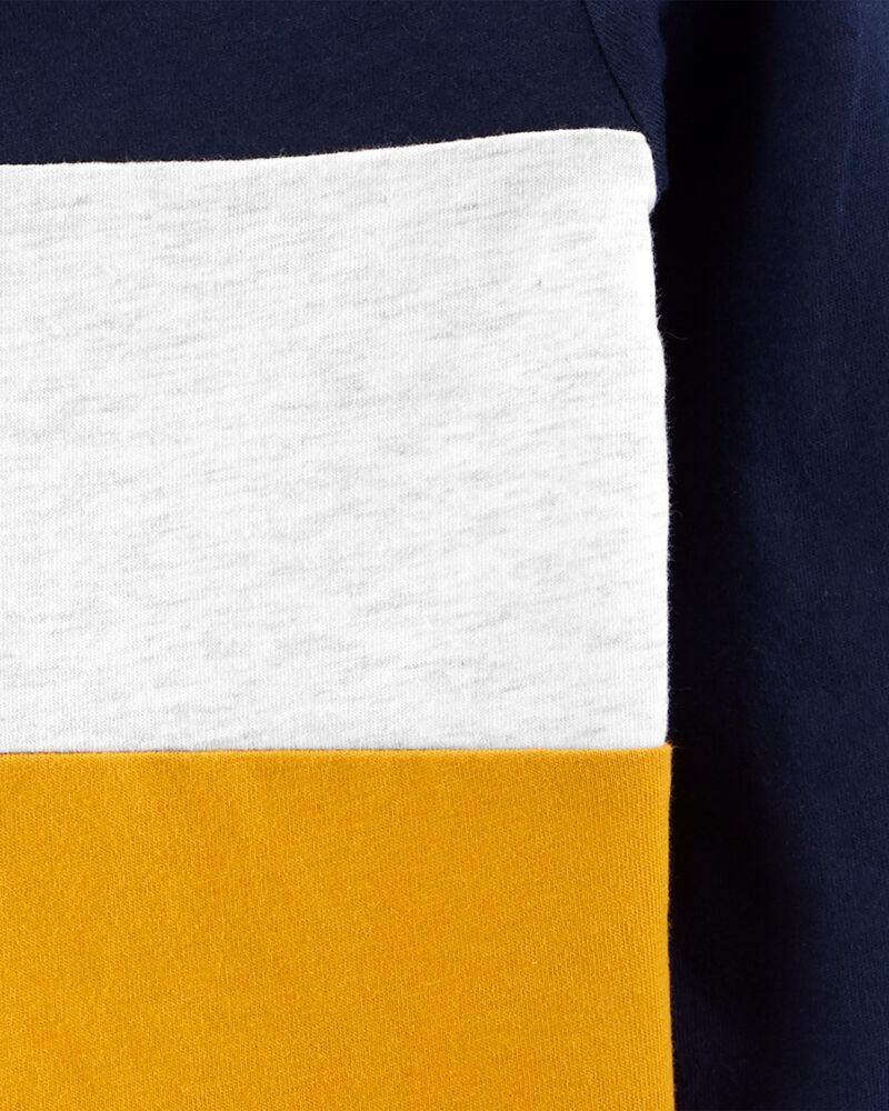 Haut henley en jersey à couleurs contrastantes, , hi-res