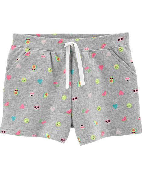 Butterfly Pull-On French Terry Shorts