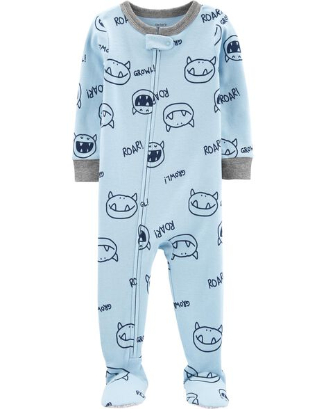 1-Piece Monster Poly Footie PJs