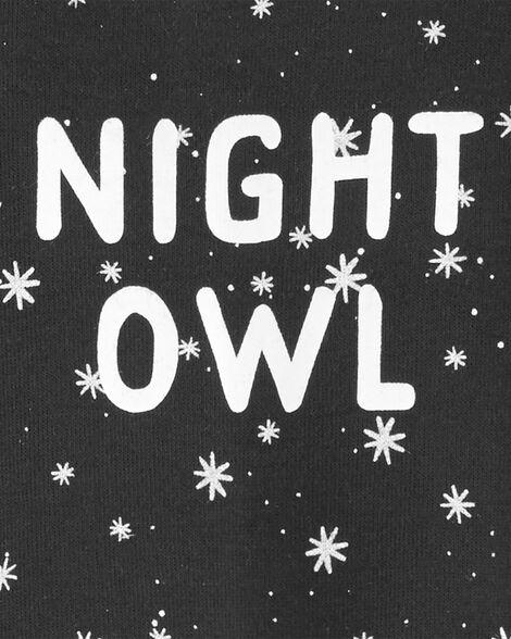 Grenouillère pour dormir et jouer en coton avec boutons-pression en biais Night Owl