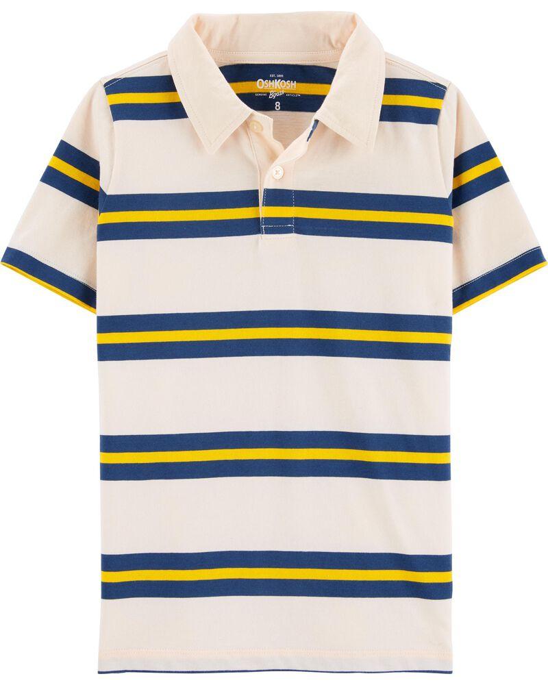 Striped Polo, , hi-res