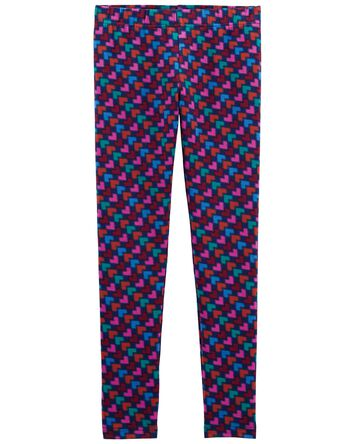 Digital Heart Print Leggings