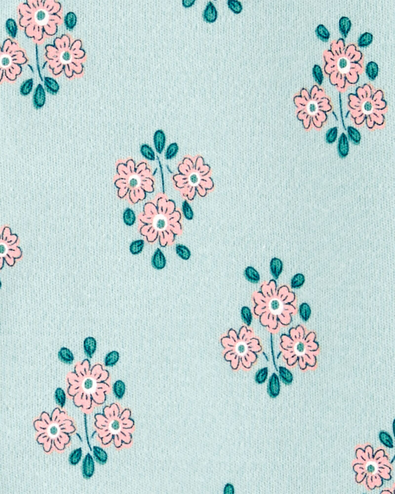 Floral Snap-Up Cotton Sleep & Play, , hi-res