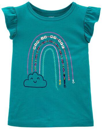 T-shirt en jersey arc-en-ciel