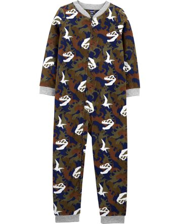 1-Piece Dinosaur Fleece Footless PJ...