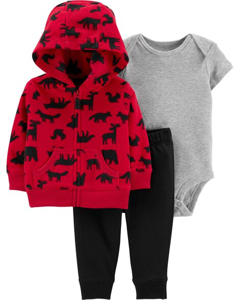3-Piece Woodland Creatures Little Jacket Set