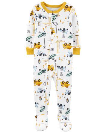 Pyjama 1 pièce sans pieds en coton...
